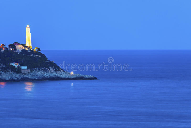 Faro de Cap Ferrat en el santo Jean Cap Ferrat imágenes de archivo libres de regalías