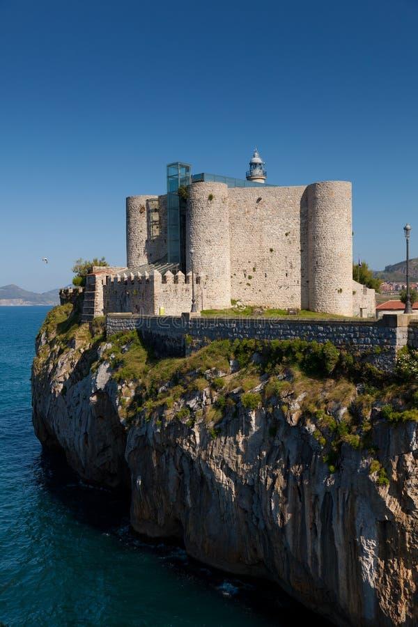 Faro de Castro-Urdiales fotografía de archivo libre de regalías