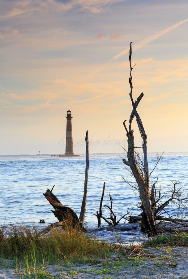 Faro de Charleston South Carolina Morris Island imagenes de archivo