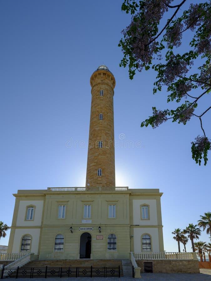 Faro de Chipiona, lightouse Chipiona, Καντίζ, Ανδαλουσία, Ισπανία στοκ φωτογραφίες