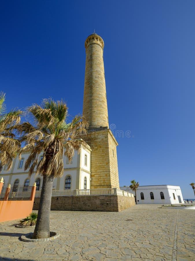 Faro de Chipiona, lightouse на Chipiona, Кадис, Андалусии, Испании стоковые фото
