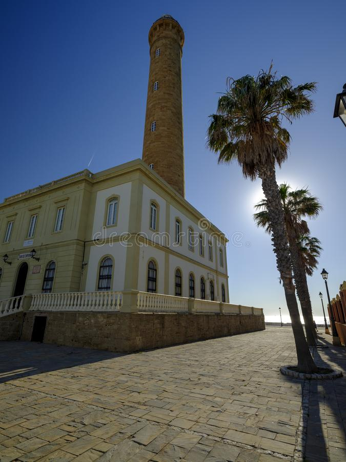 Faro de Chipiona, lightouse at Chipiona, Cadiz, Andalucia, Spain royalty free stock photography