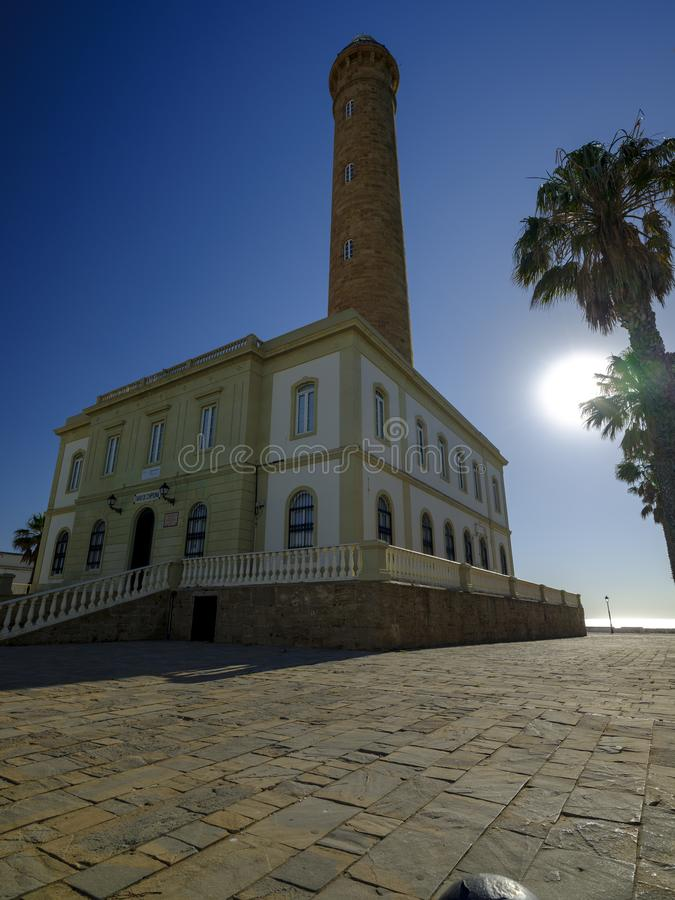 Faro de Chipiona, lightouse at Chipiona, Cadiz, Andalucia, Spain royalty free stock photos
