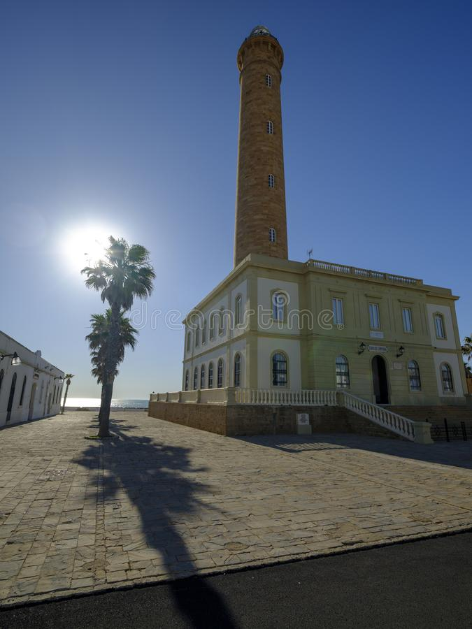 Faro de Chipiona, lightouse at Chipiona, Cadiz, Andalucia, Spain royalty free stock photo