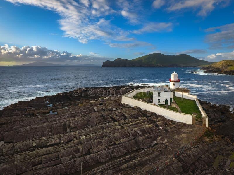 Faro de Cromwell Valentia Island irlanda imagenes de archivo