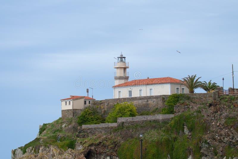 Faro de Cudillero imagen de archivo