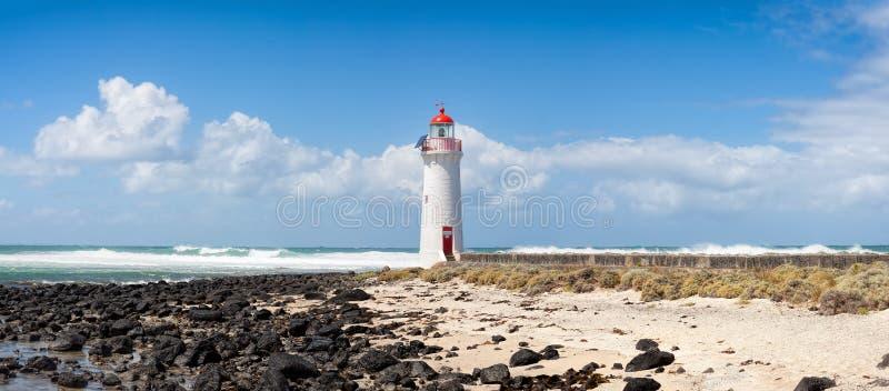 Faro de hadas del puerto, camino de la isla de Griffiths gran océano, Victoria, Australia fotografía de archivo libre de regalías