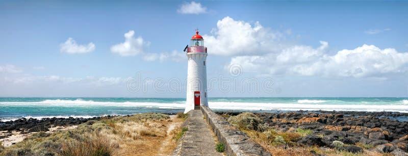 Faro de hadas del puerto, isla de Griffiths, Victoria, Australia fotos de archivo libres de regalías