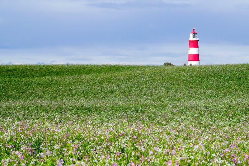 Faro de Happisburgh, Norfolk, Reino Unido imágenes de archivo libres de regalías