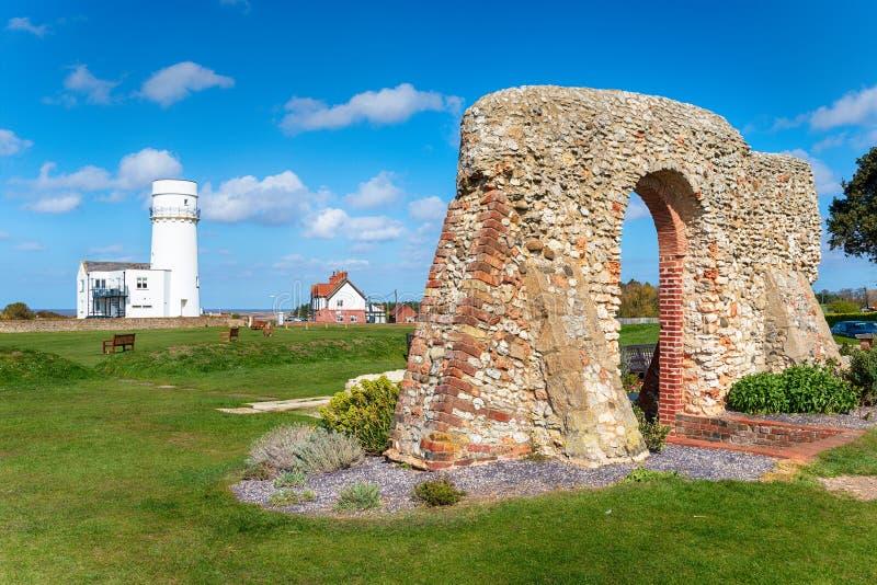 Faro de Hunstanton en Norfolk imagen de archivo