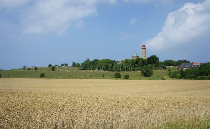 Faro de Kap Arkona en la isla de Rugen, Alemania fotografía de archivo libre de regalías