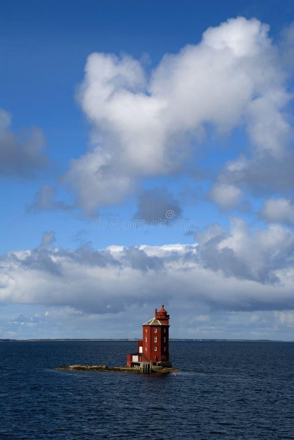 Faro de Kjeungskjær imágenes de archivo libres de regalías