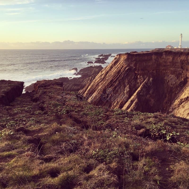Faro de la arena del punto fotografía de archivo