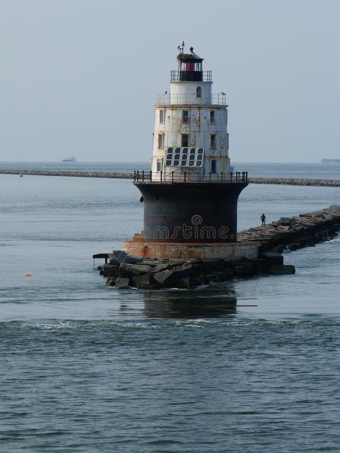 Faro de la bahía de Delaware imagenes de archivo