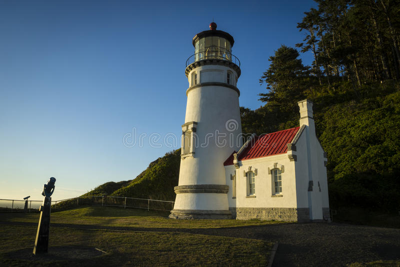 Faro de la cabeza de Heceta, Oregon foto de archivo