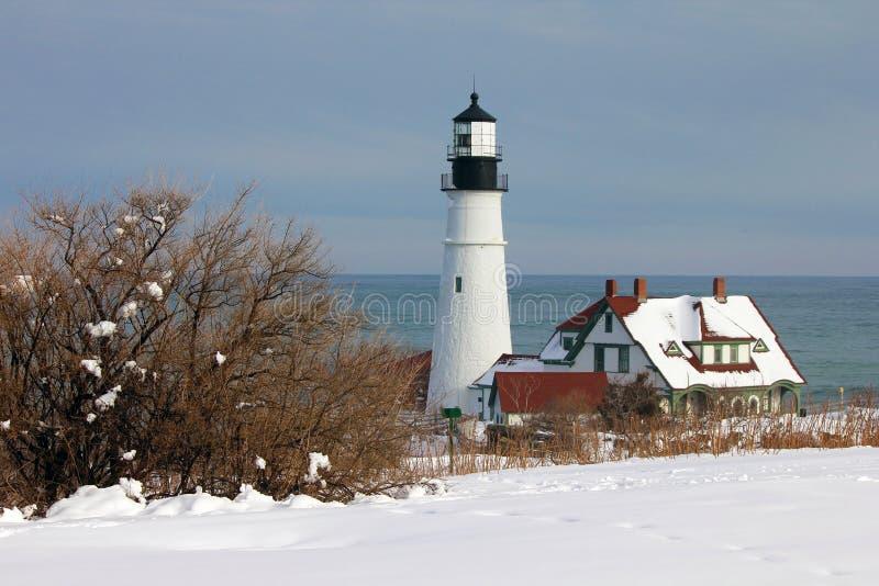 Faro de la cabeza de Portland, cabo Elizabeth, Maine fotos de archivo libres de regalías