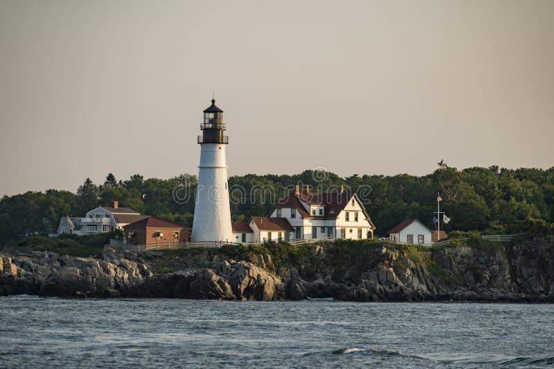 Faro de la cabeza de Portland, cabo Elizabeth, Maine, los E.E.U.U. foto de archivo libre de regalías