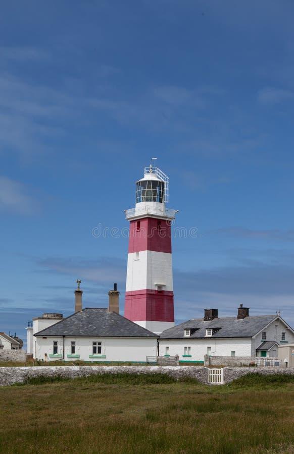 Faro de la isla de Bardsey fotografía de archivo