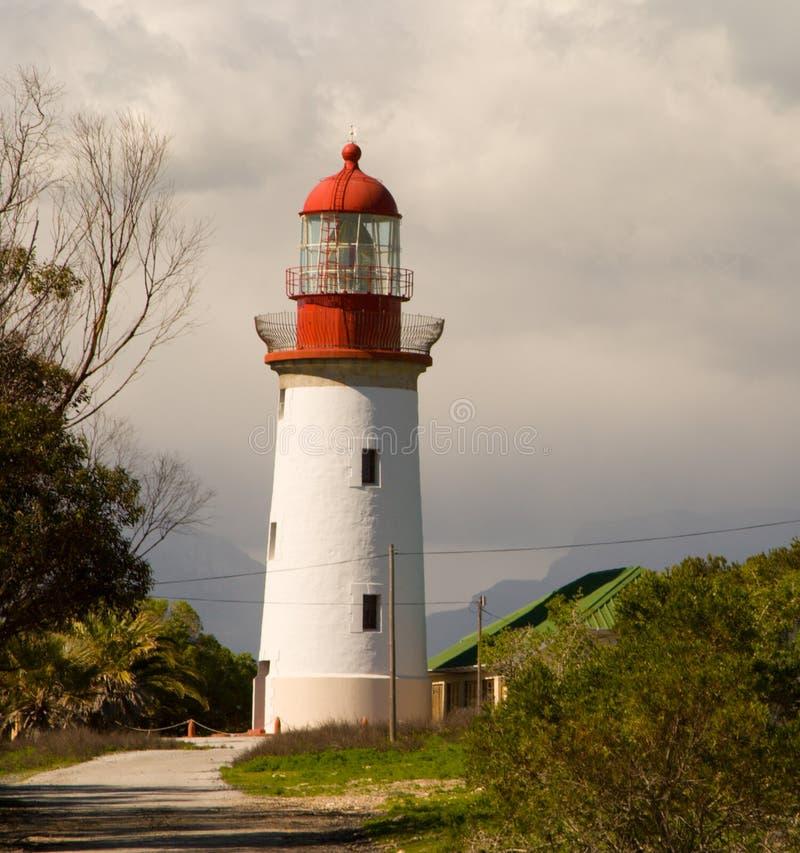 Faro de la isla de Robben fotografía de archivo