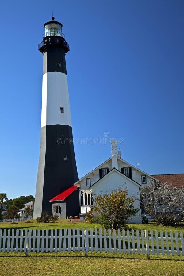 Faro de la isla de Tybee fotografía de archivo libre de regalías