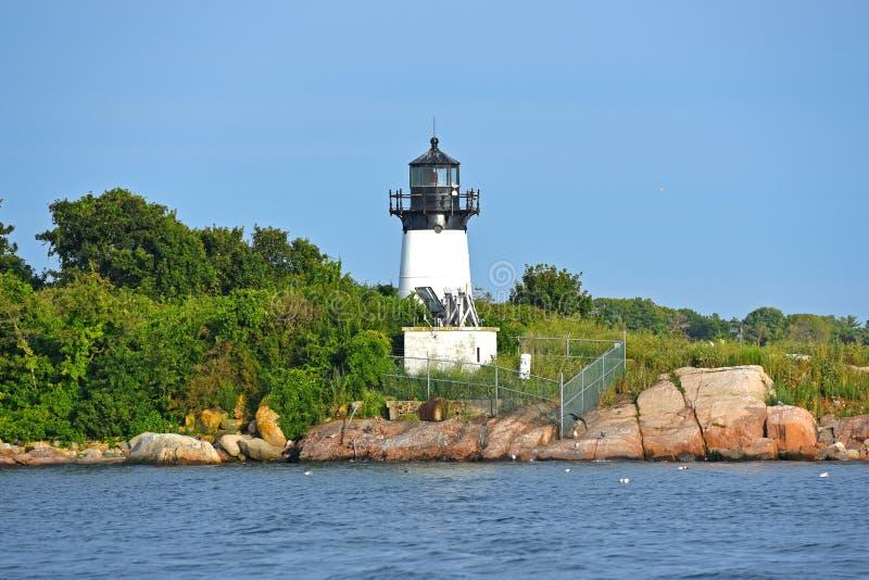 Faro de la isla de diez libras, cabo Ana, Massachusetts fotografía de archivo