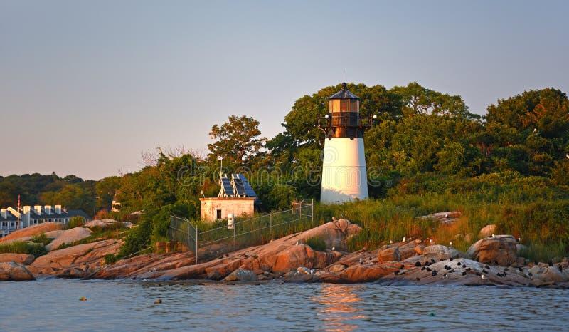 Faro de la isla de diez libras, cabo Ana, Massachusetts imagenes de archivo