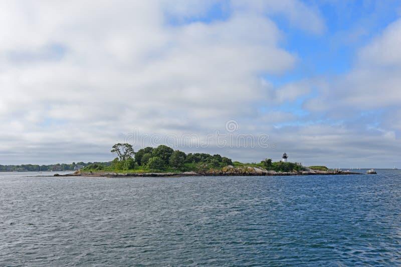Faro de la isla de diez libras, cabo Ana, Massachusetts imágenes de archivo libres de regalías