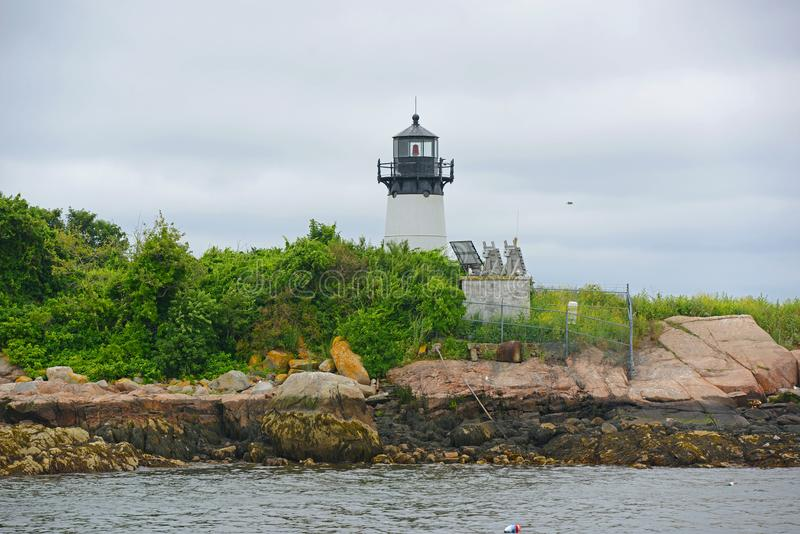 Faro de la isla de diez libras, cabo Ana, Massachusetts fotografía de archivo libre de regalías