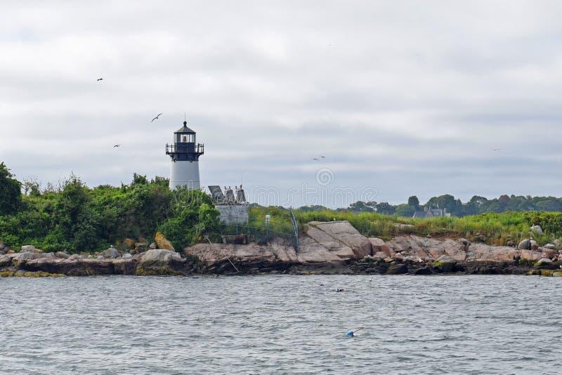 Faro de la isla de diez libras, cabo Ana, Massachusetts fotos de archivo libres de regalías