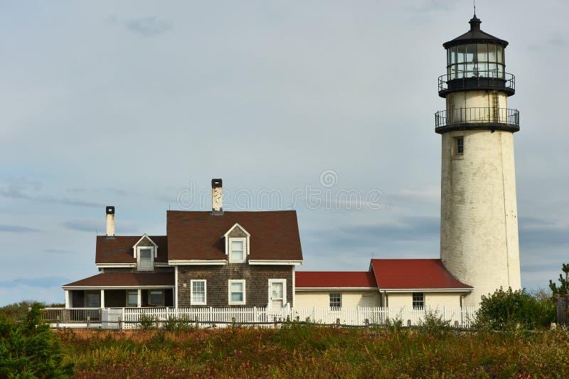 Faro de la montaña en Cape Cod imágenes de archivo libres de regalías