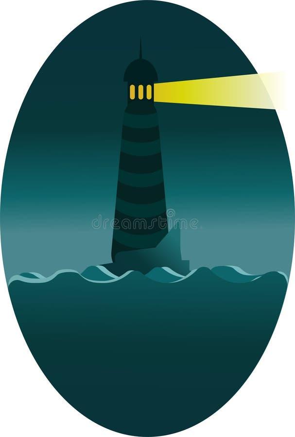 Faro de la noche que señala la manera libre illustration