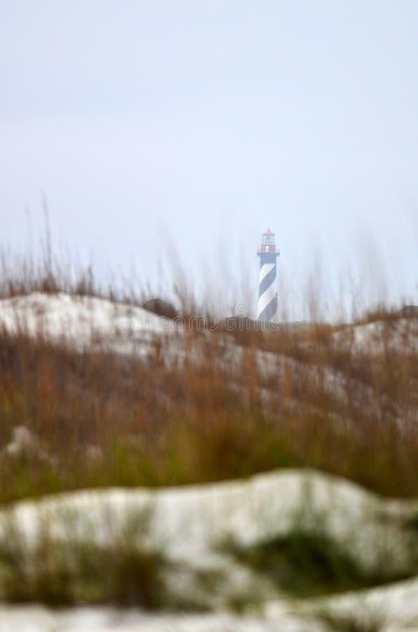 Faro de la playa de St Augustine   foto de archivo libre de regalías