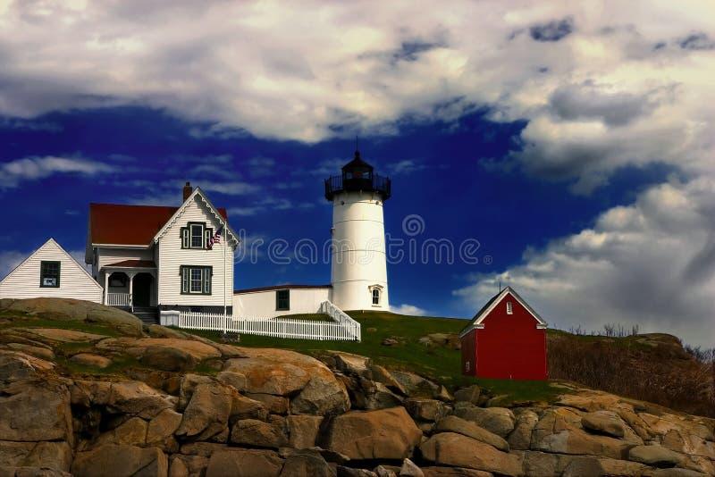 Faro de la protuberancia pequeña, Maine foto de archivo