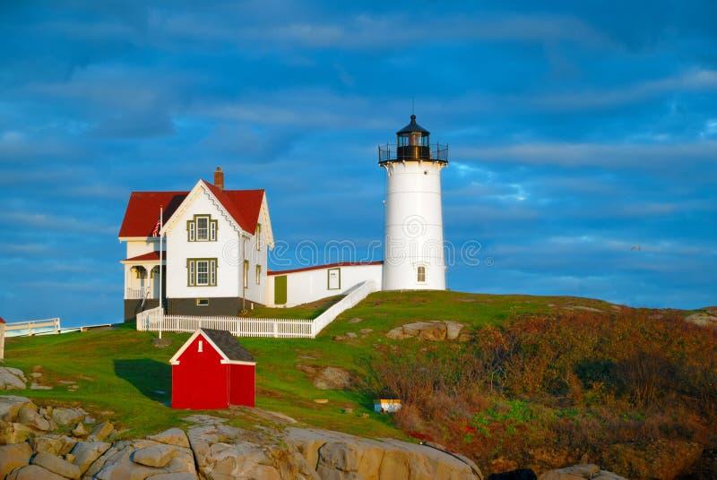 Faro de la protuberancia pequeña, Maine imagenes de archivo