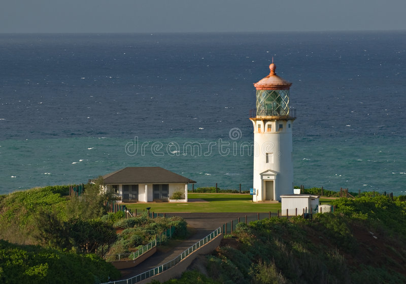 Faro de la punta de Kilauea imagenes de archivo