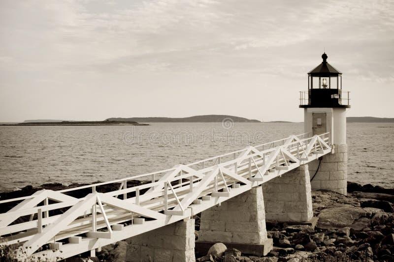 Faro de la punta de Marshall foto de archivo