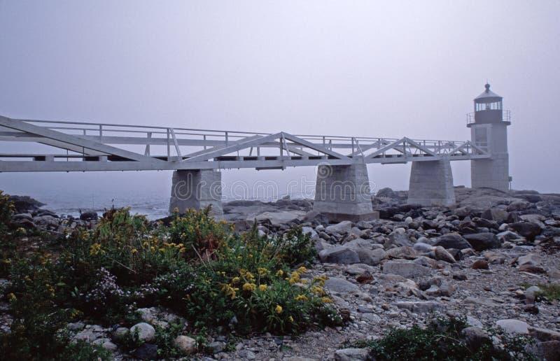 Faro de la punta de Marshall, Clyde portuario, YO imagenes de archivo