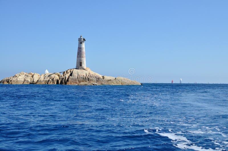 Faro de las islas de Monaci foto de archivo libre de regalías