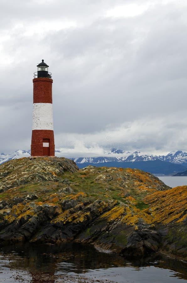 Faro de Les Eclaireurs, Ushuaia, Patagonia, la Argentina imagenes de archivo