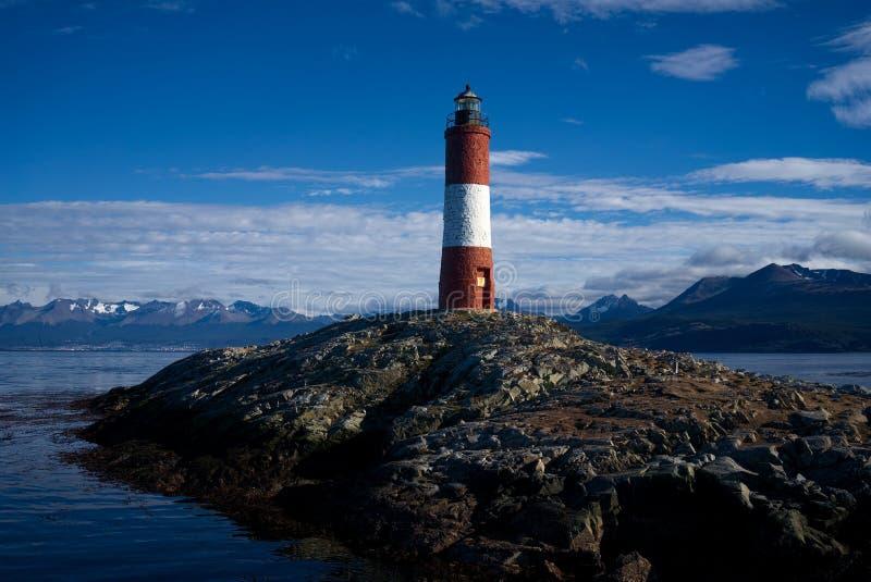 Faro de Les Eclaireurs, Ushuaia, Tierra del Fuego, la Argentina imagen de archivo libre de regalías