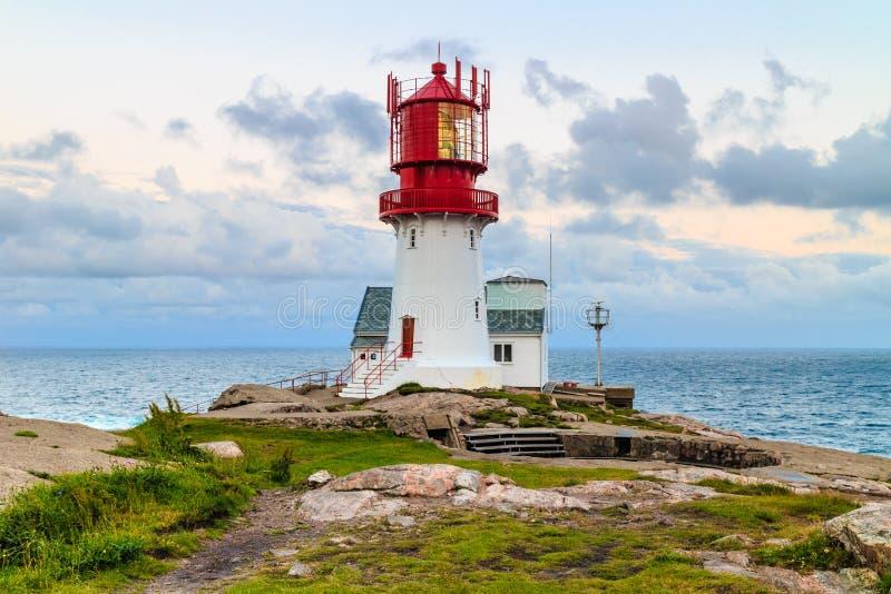 Faro de Lindesnes en Noruega foto de archivo libre de regalías