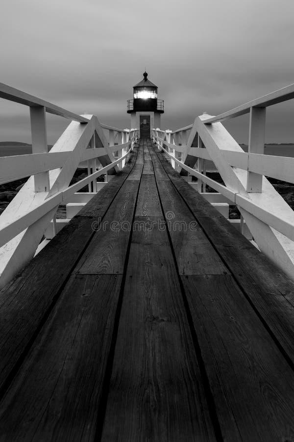 Faro de Marshall Point fotografía de archivo libre de regalías