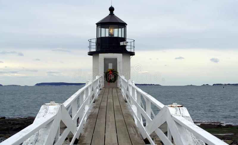 Faro de Marshall Point imagenes de archivo