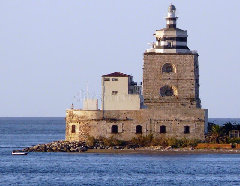 Faro de Messina imagen de archivo libre de regalías
