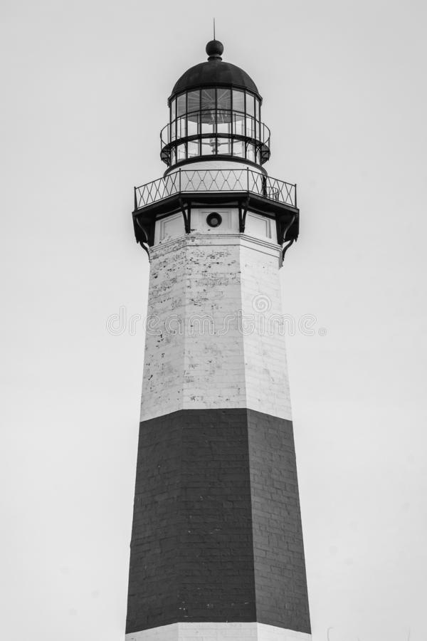 Faro de Montauk, en el parque de estado del punto de Montauk, Nueva York fotografía de archivo