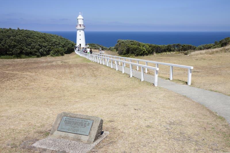 Faro de Otway del cabo, cabo Otway, gran camino del océano, Victoria imagenes de archivo