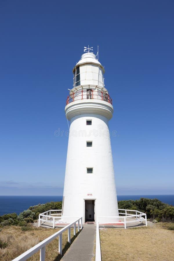 Faro de Otway del cabo, cabo Otway, gran camino del océano, Victoria, Australia fotografía de archivo libre de regalías