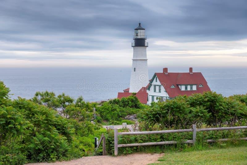 Faro de Portland, Maine, los E.E.U.U. fotografía de archivo libre de regalías