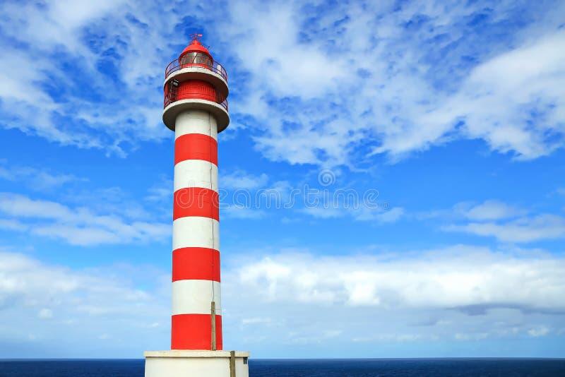 Faro de Punta, Sardina è un faro sulla costa di Gran Ganaria immagine stock
