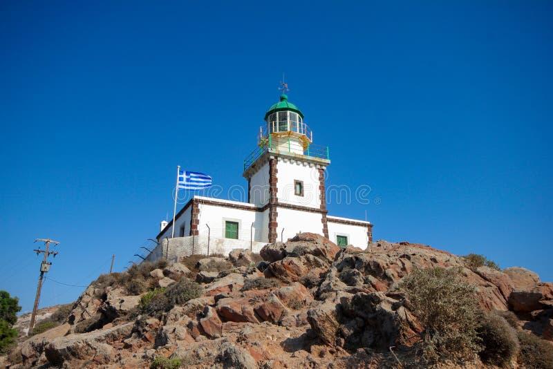 Faro de Santorini fotografía de archivo